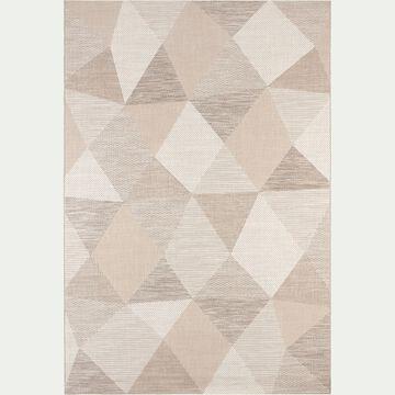 Tapis intérieur et extérieur à motifs - beige 120x170cm-METRIX