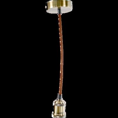 Monture électrique E27 en métal et tissu cuivré L150cm-PENDEL