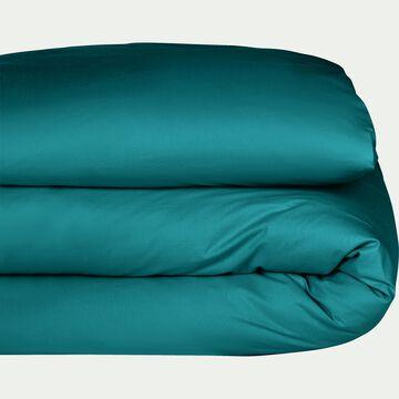 Housse de couette en coton bleu niolon 240x220cm-CALANQUES