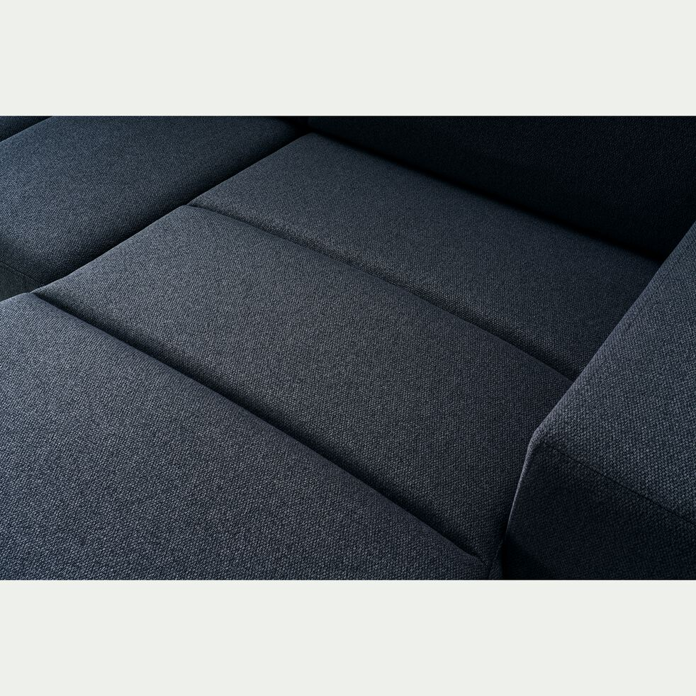Canapé d'angle réversible et convertible en tissu - bleu céou-ORIGANO