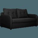 Canapé 3 places convertible déplimousse en tissu gris restanque-VINYL