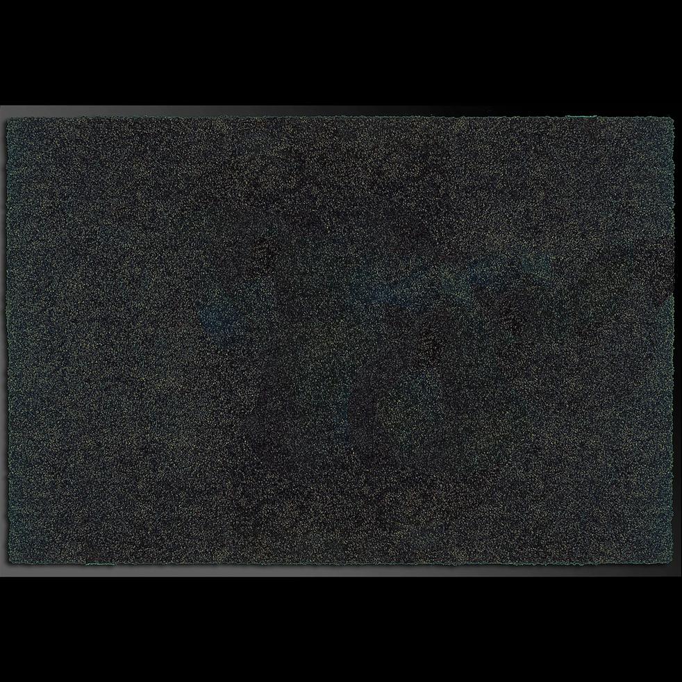 Tapis d'entrée paillasson noir 60x90 cm-BEN