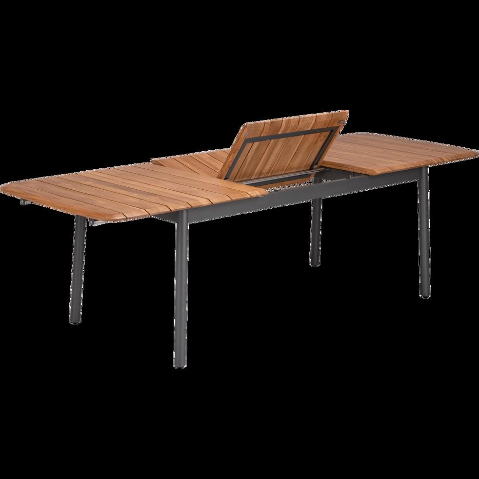 Table de jardin extensible en métal et bois (8 à 12 places ...