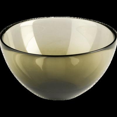 Coupelle en verre vert D16cm-AURORE