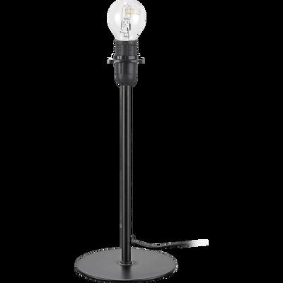 Pied de lampe à poser en métal noir H29cm-CESARIO