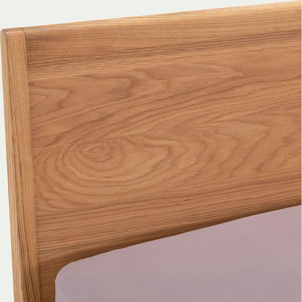 Lit 2 places en plaqué de chêne - 180x200cm-BRUNA