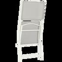 Chaise pliante acier et toile plastifiée Gris borie-LIMONE