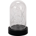 Cloche en verre micro LED H25cm-BERHIL