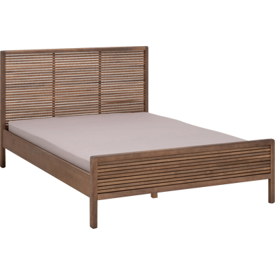 Lit 2 places avec tête de lit en pin massif - Plusieurs Tailles-CRUZ
