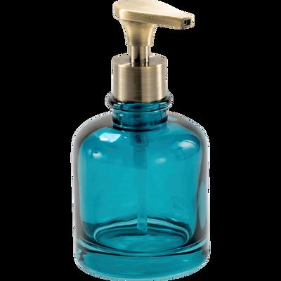 Distributeur de savon en verre bleu-AZALEE