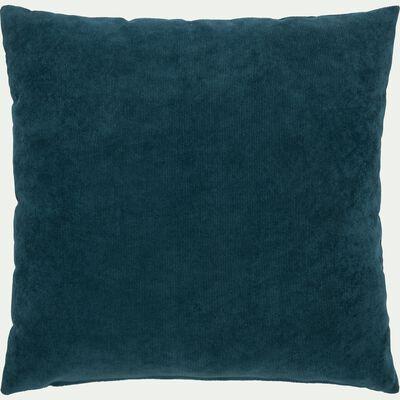 Coussin côtelé bleu figuerolles 45x45cm-RAYMOND