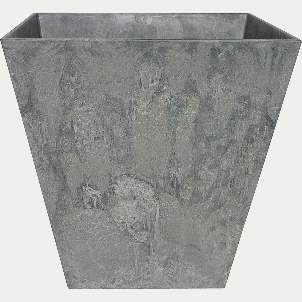 Pot à réserve d'eau - gris H20cm-Ella