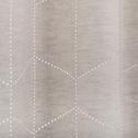 Rideau à motifs ajourés beige LASER 130x250cm-SALIA