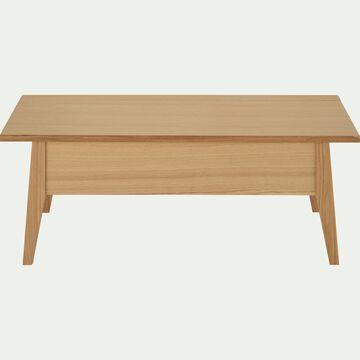 Table basse en bois avec plateau relevable - naturel-AGOSTA