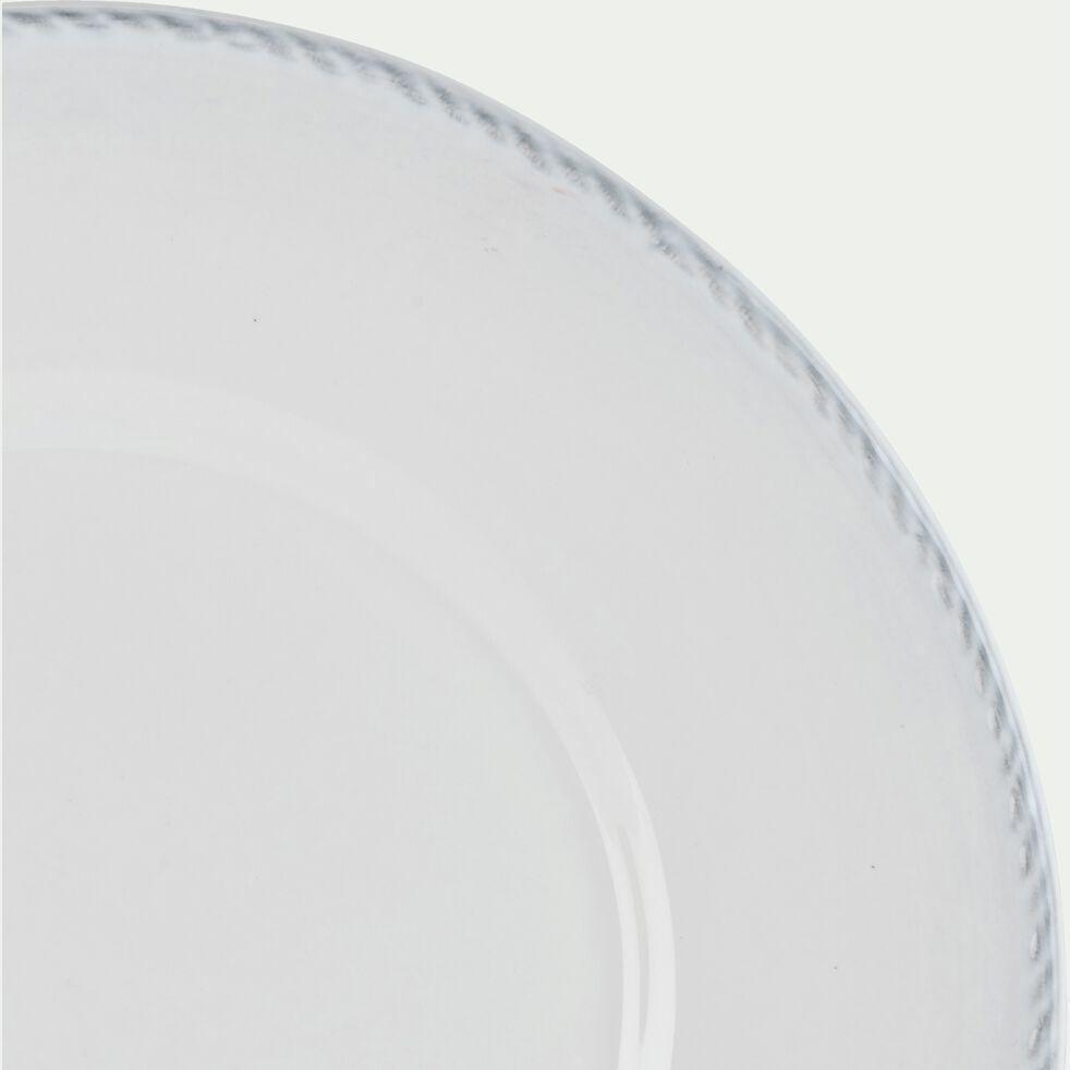 Assiette à dessert en faïence D22cm - blanc-GALE