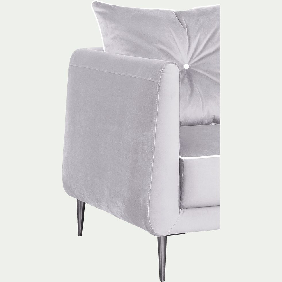 Canapé 4 places fixe en tissu - gris borie-ASTELLO