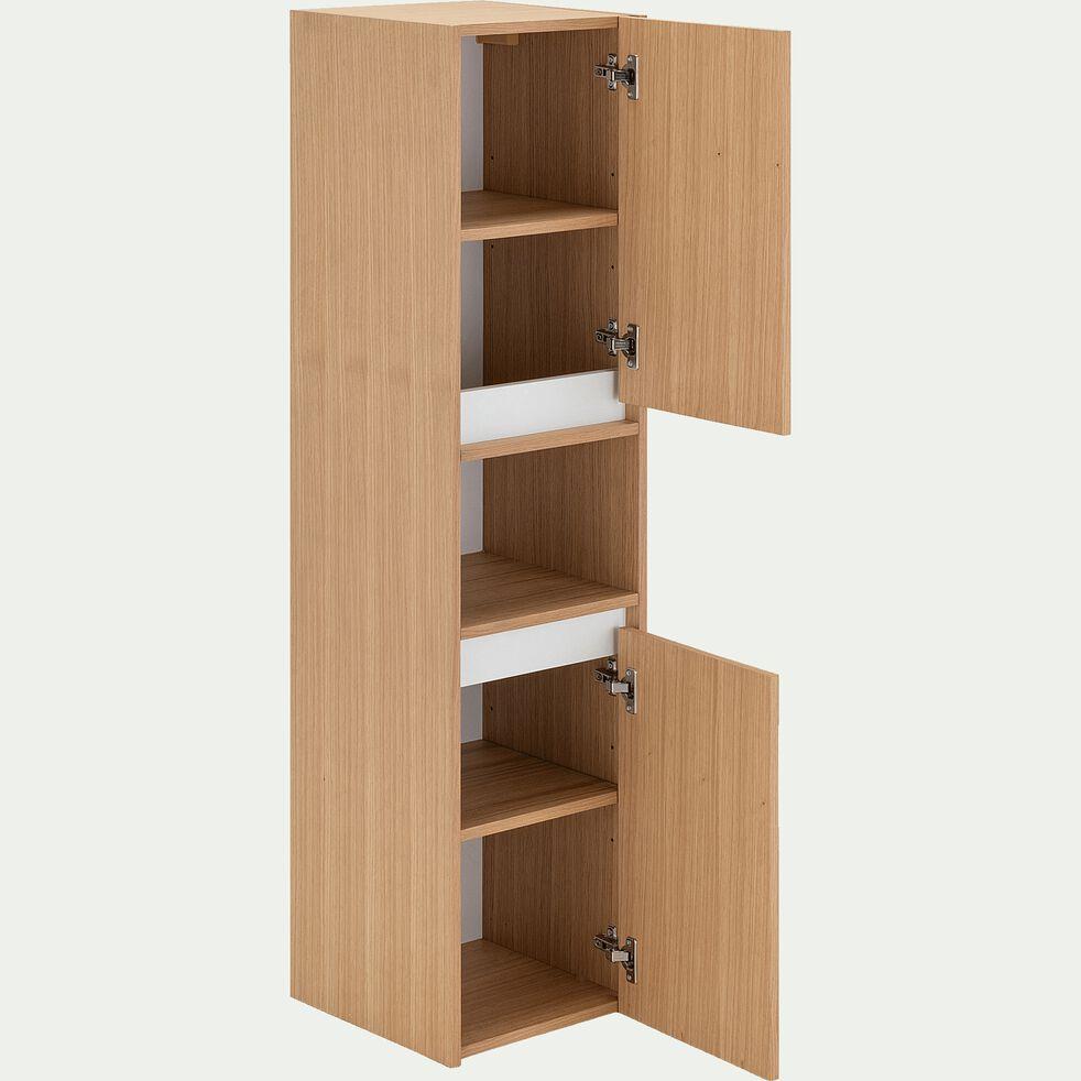 Colonne en bois 2 portes L35xl35xH136cm - naturel-GARLABAN