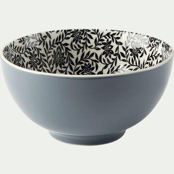 Bol en porcelaine motifs jasmin - gris D15cm-AIX