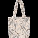 Housse de couette en percale de coton imprimé Fleurs d'oranger - 240x220 cm-FANNY