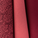 Lot de 3 torchons en coton rouge-AMANDE