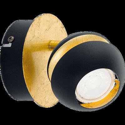 Applique spot en acier noir et doré D11cm-NOCITO
