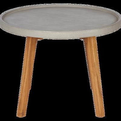 Table d'appoint de jardin gris clair D60xH45cm-LIMONTA
