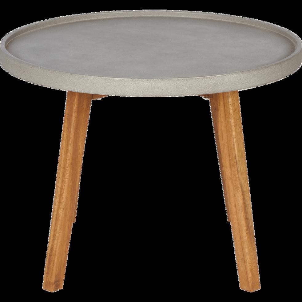 table d 39 appoint de jardin gris clair d60xh45cm limonta. Black Bedroom Furniture Sets. Home Design Ideas