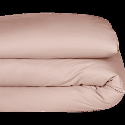Housse de couette en percale de coton Rose argile 240x220cm-FLORE