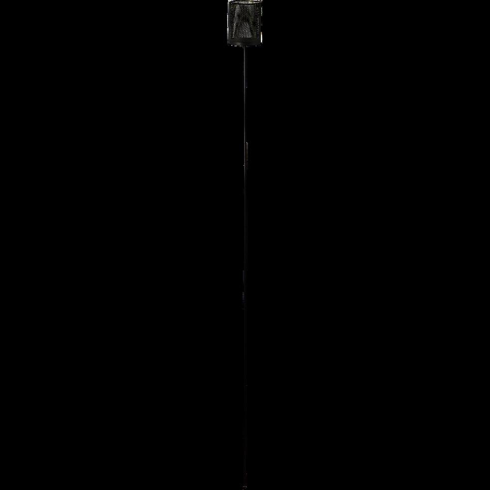 Photophore en métal - noir et intérieur vert - H120cm-MELUSINE