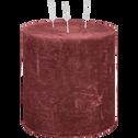 Bougie lanterne coloris rouge sumac D15xH15cm-BEJAIA