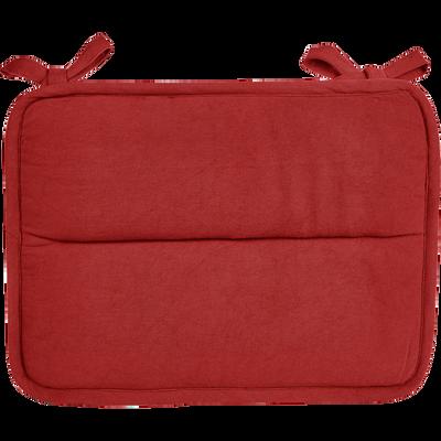 Galette De Chaise Deperlante Rouge 38x28cm PIMS