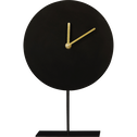 Horloge sur pied en métal noir H30cm-CORA