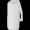 Drap housse en coton Blanc capelan 160x200cm-bonnet 30cm-CALANQUES