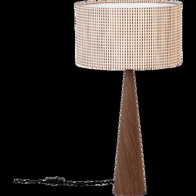 Lampe à poser en bois H65cm-CONOS