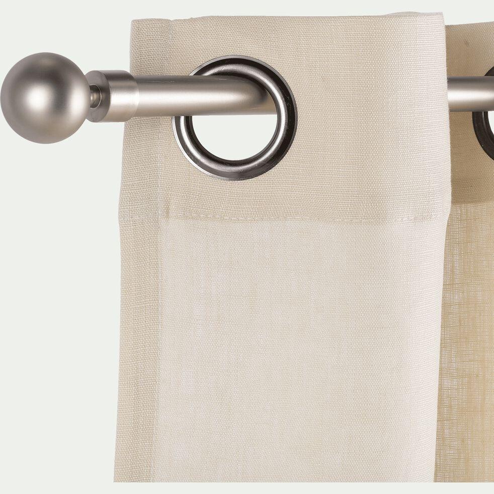 Tringle à rideau extensible en acier - argenté 170-300cm D16/19 mm-LOUISE