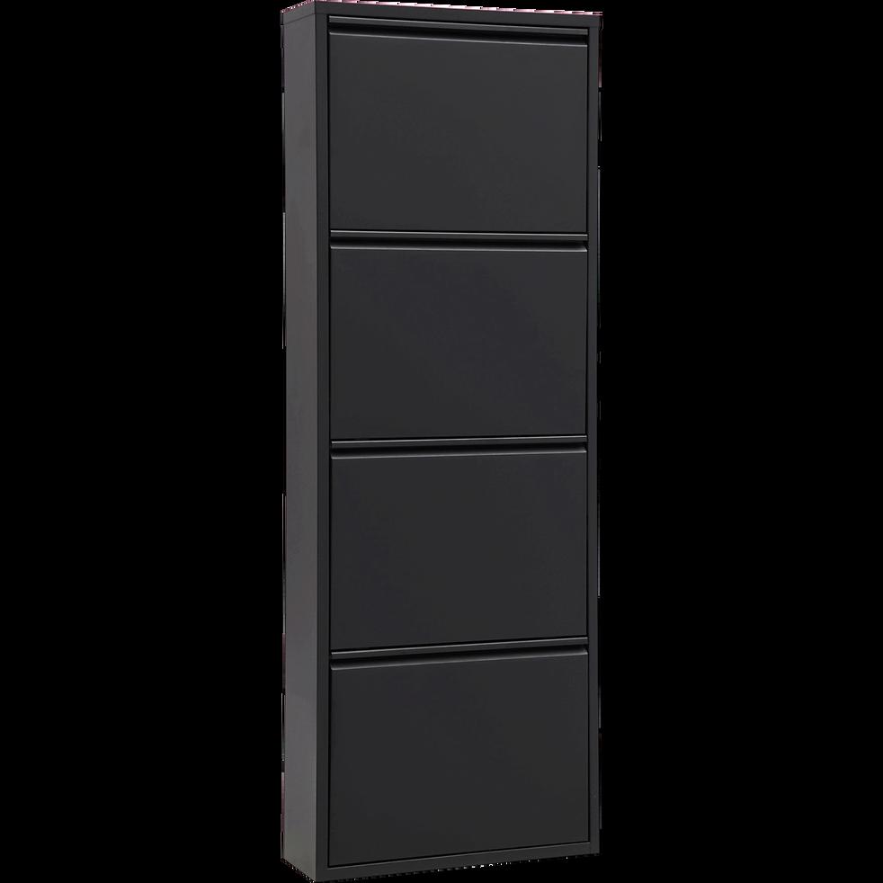 meuble chaussures en acier noir mat 8 paires lofter meubles chaussures alinea. Black Bedroom Furniture Sets. Home Design Ideas