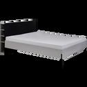 Tête de lit effet bois gris de 160cm-CASTEL