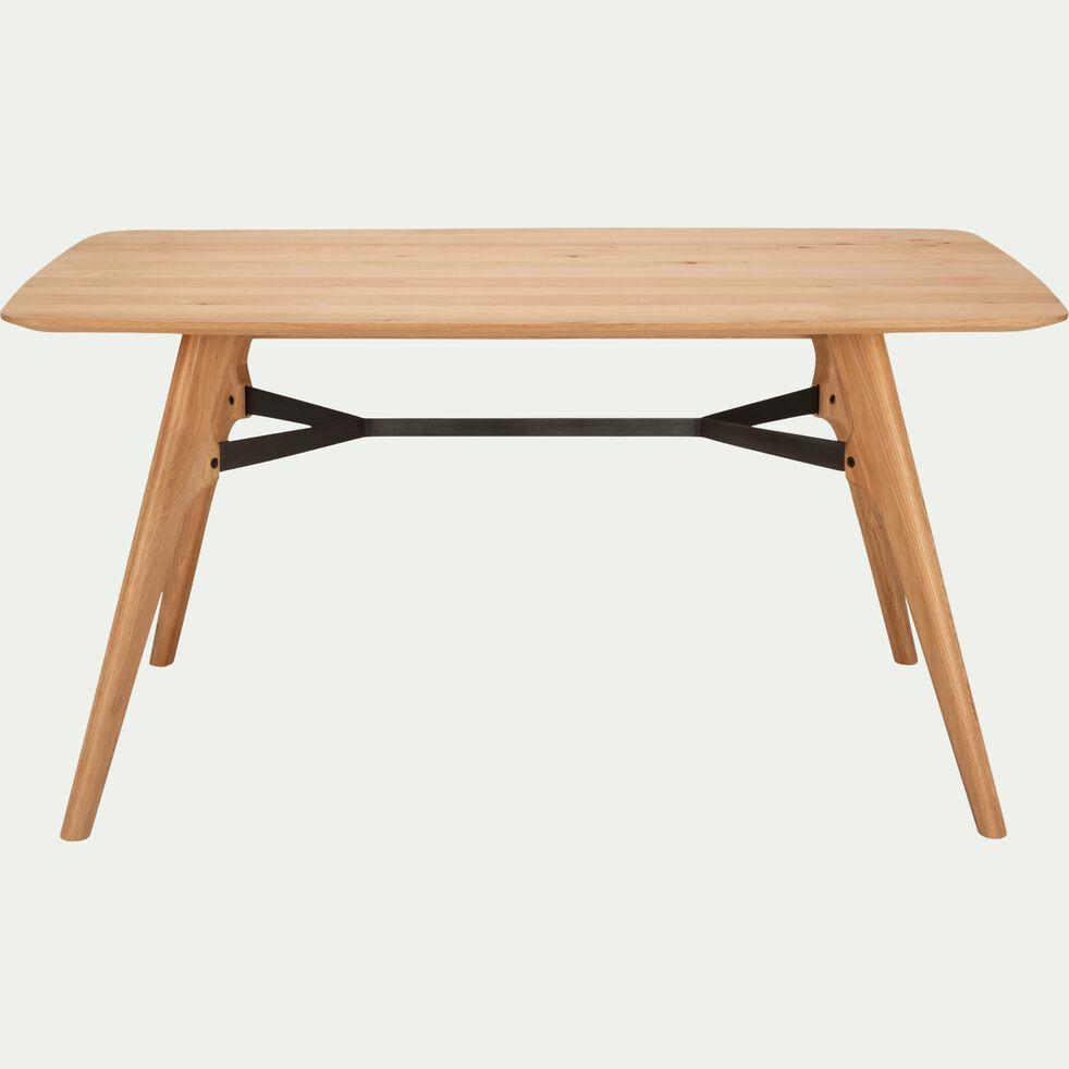 Table de repas rectangulaire bois et acier L150cm - 6 places-FANETTE