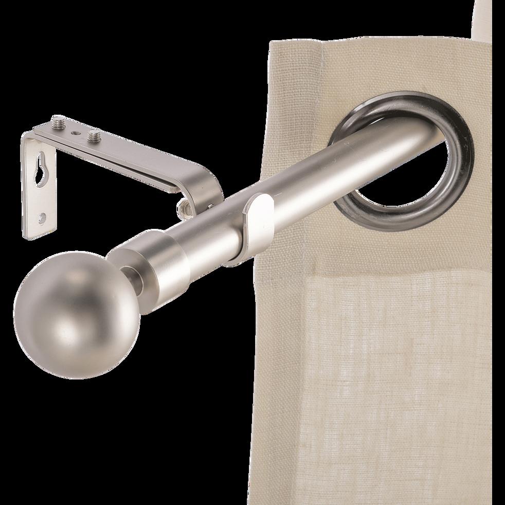 Kit tringle extensible en acier finition alu mate 120-210 cm D16/19 mm-LOUISE