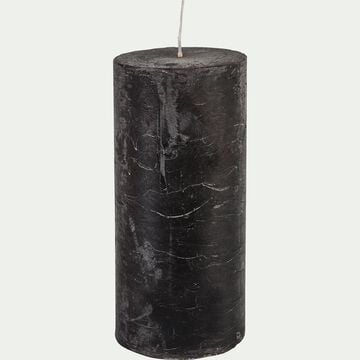 Bougie cylindrique - gris calabrun H15cm-BEJAIA