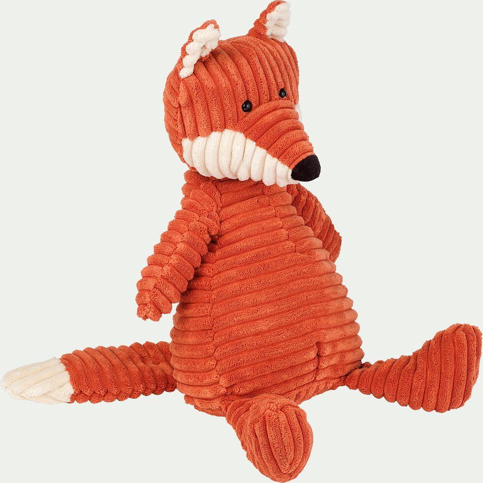 Peluche renard - orange h38cm-Cordy