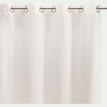 Rideau à œillets en coton - beige ventoux 140x250cm-CALANQUES