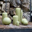 8 bougies flambeaux vert garrigue H18cm-HALBA