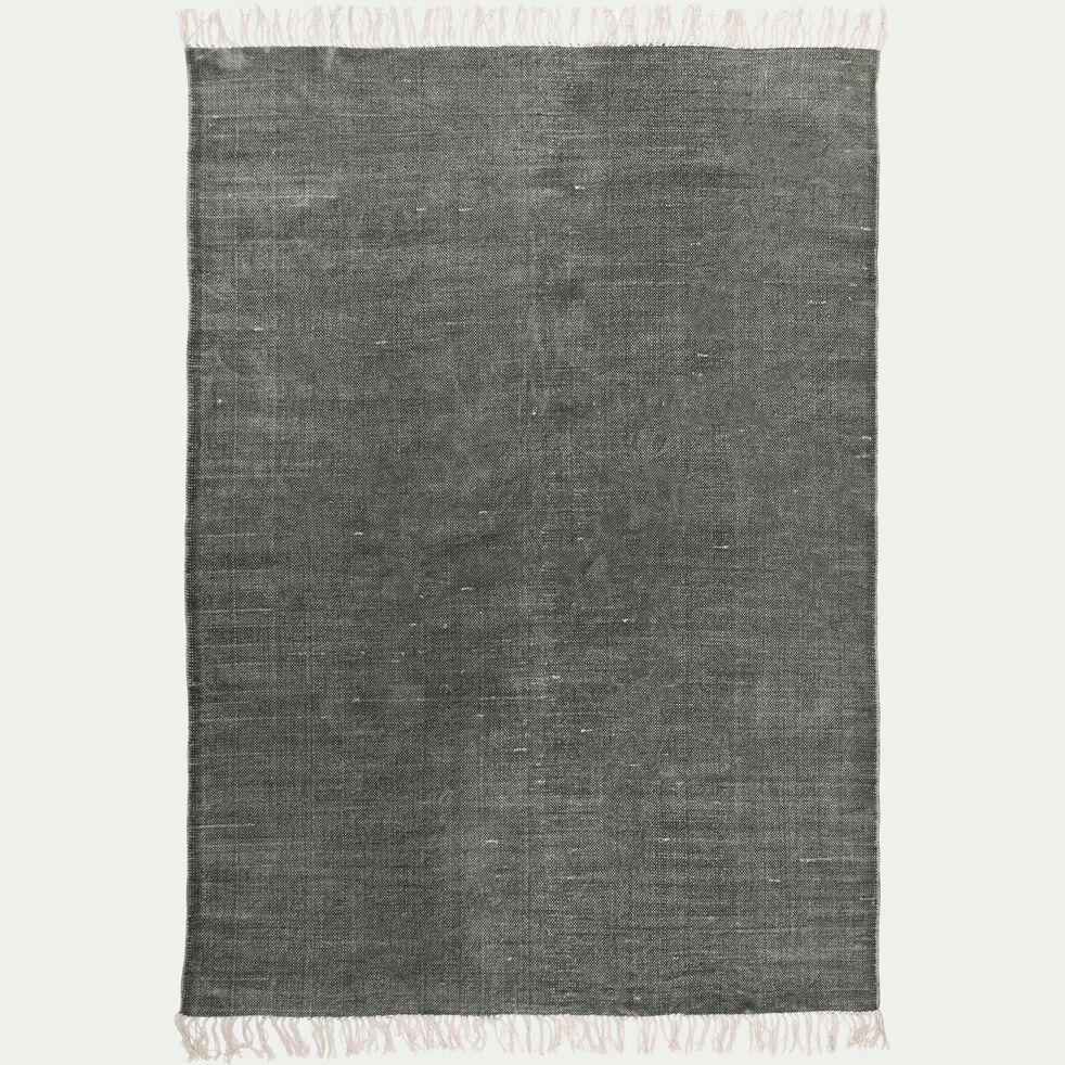 Tapis en coton - vert cèdre 100x150cm-PALMA