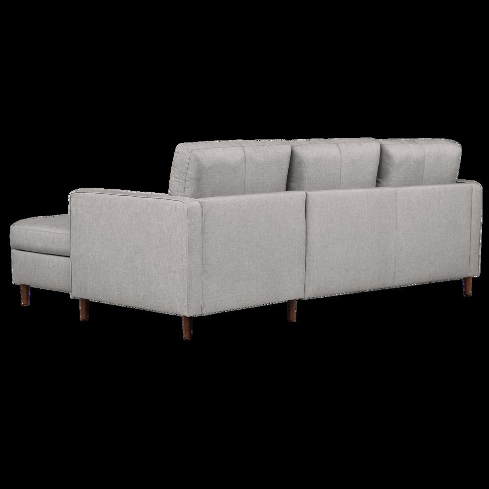 Canapé d'angle convertible réversible en tissu gris borie-ROMEO