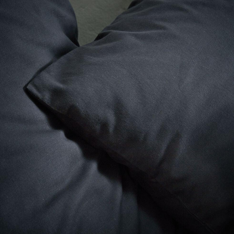 Lot de 2 taies d'oreiller en coton - gris calabrun 50x70cm-CALANQUES