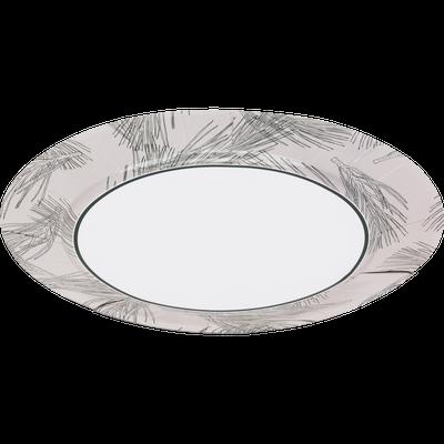Lot de 8 assiettes en carton à motif feuilles de pin D25cm-SAZE