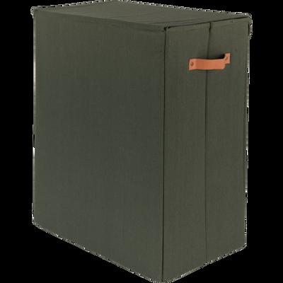Panier à linge double vert H50cm-ERRO