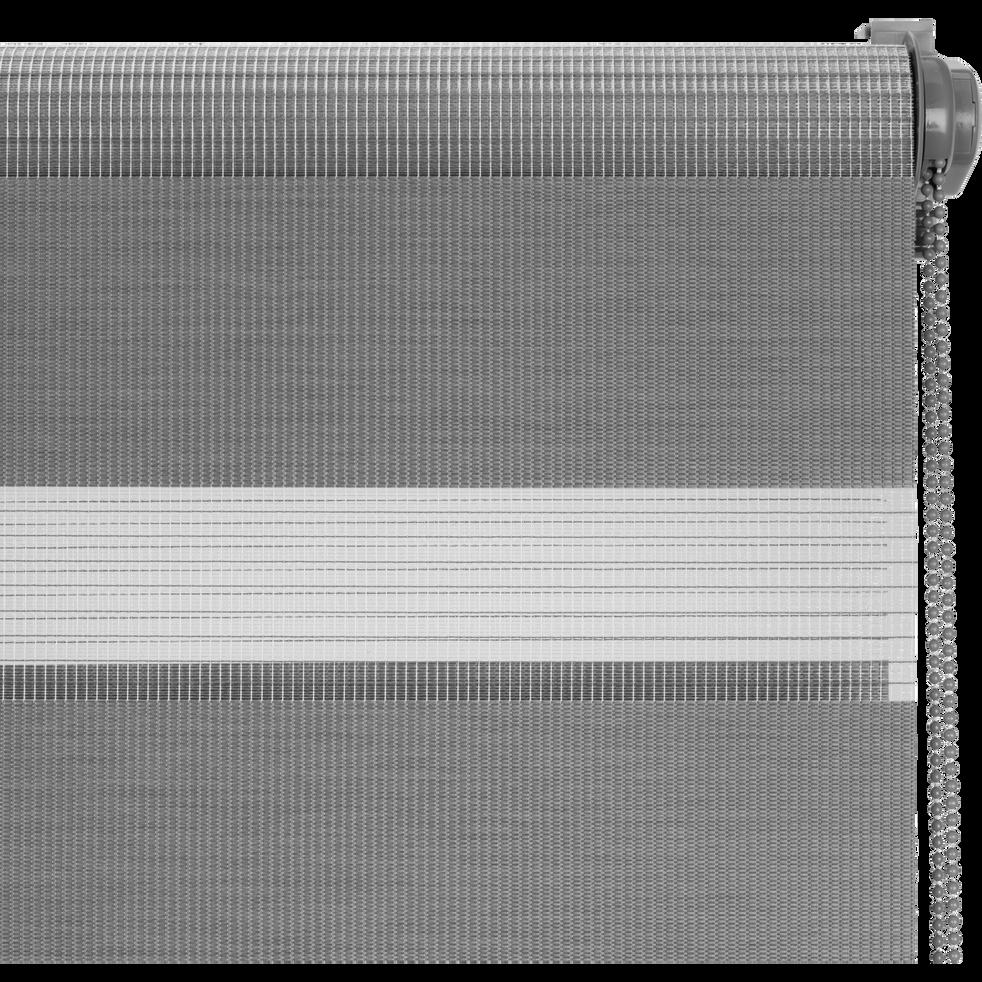 Store enrouleur tamisant gris anthracite72x190cm-JOUR-NUIT