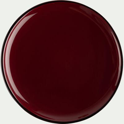 Assiette à dessert en faïence rouge sumac D20cm-LANKA